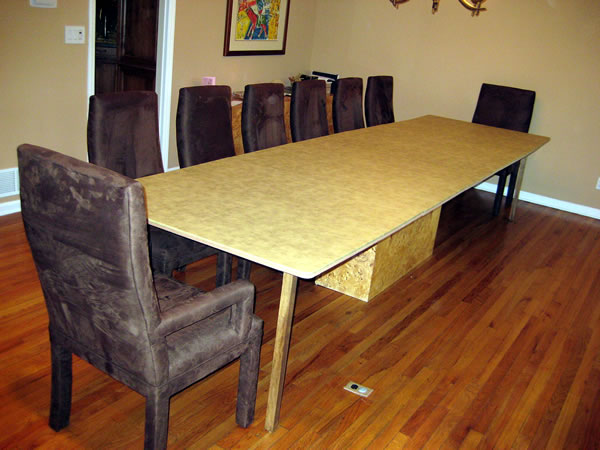 Bens Table With Wider Extender Pad