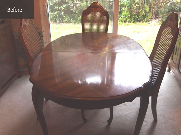 Oval table for 4 now seats 12